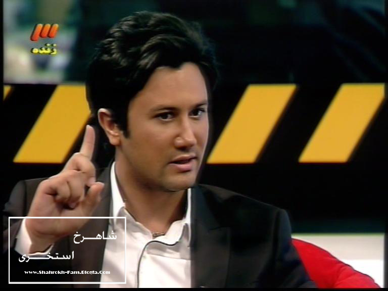 عکس شاهرخ استخری در برنامه سینما گلخانه